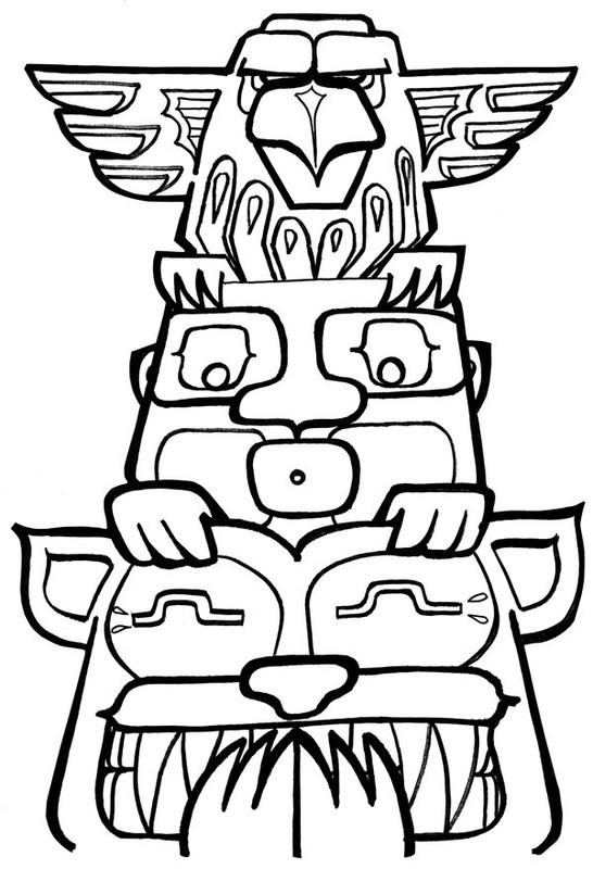 Totem Pole - Ms. C's & Ms.B's & Mr.C's Digital Art Class